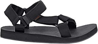 CUSHIONAIRE Women's Summer Yoga Mat Sandal with +Comfort Black, 6