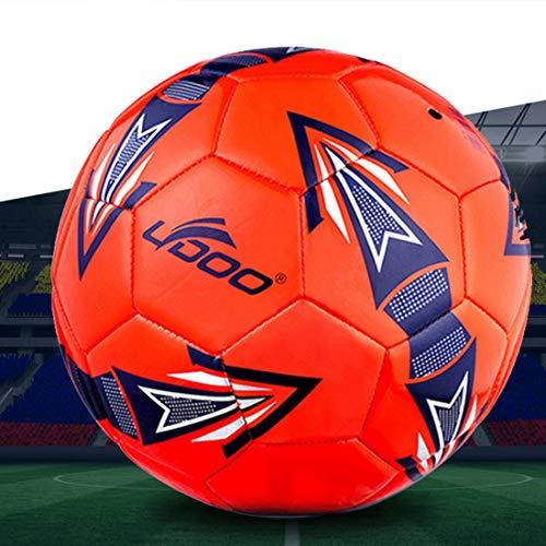 MYHH 19cm PU-Leder Nähen Wearable Spiel Fußball (Fluorescent Grün). (Color : Color8)