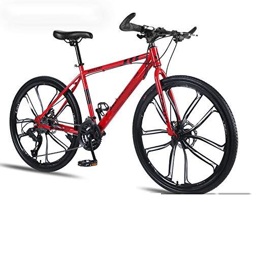 Vélo de montagne pour adulte 30 vitesses, double freins à disque amortisseur ultra léger pour étudiant hors route, pour l'environnement urbain et trajets vers et depuis le travail
