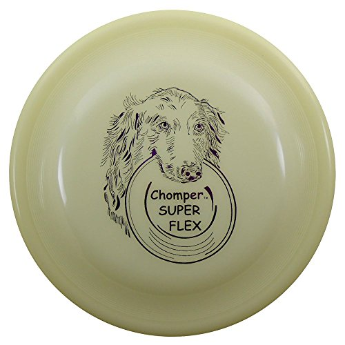 Whamo Chomper Fastback Classic Super Flex 110g K9 Dog Flying Disc [Colors May Vary]