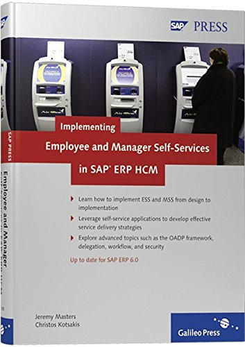 Implementing Employee and Manager Self-Services in SAP ERP HCM (SAP PRESS: englisch)