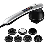 Ikeepi Percussion Massager Handheld Deep Tissue Massager with 5 Interchangeable Nodes &6 Speeds & 6 Modes Electric Neck Back Massage for Shoulder Foot Leg Body Muscle Pain Relief