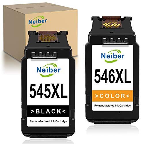 Neiber 545XL 546XL Cartuchos de Tinta Compatible para Canon PG545XL CL546XL para Canon Pixma TS3150 3151 205 305 MG2555S 3050 2550 2550S MX495 TR4550 Ip2850(Negro Color)