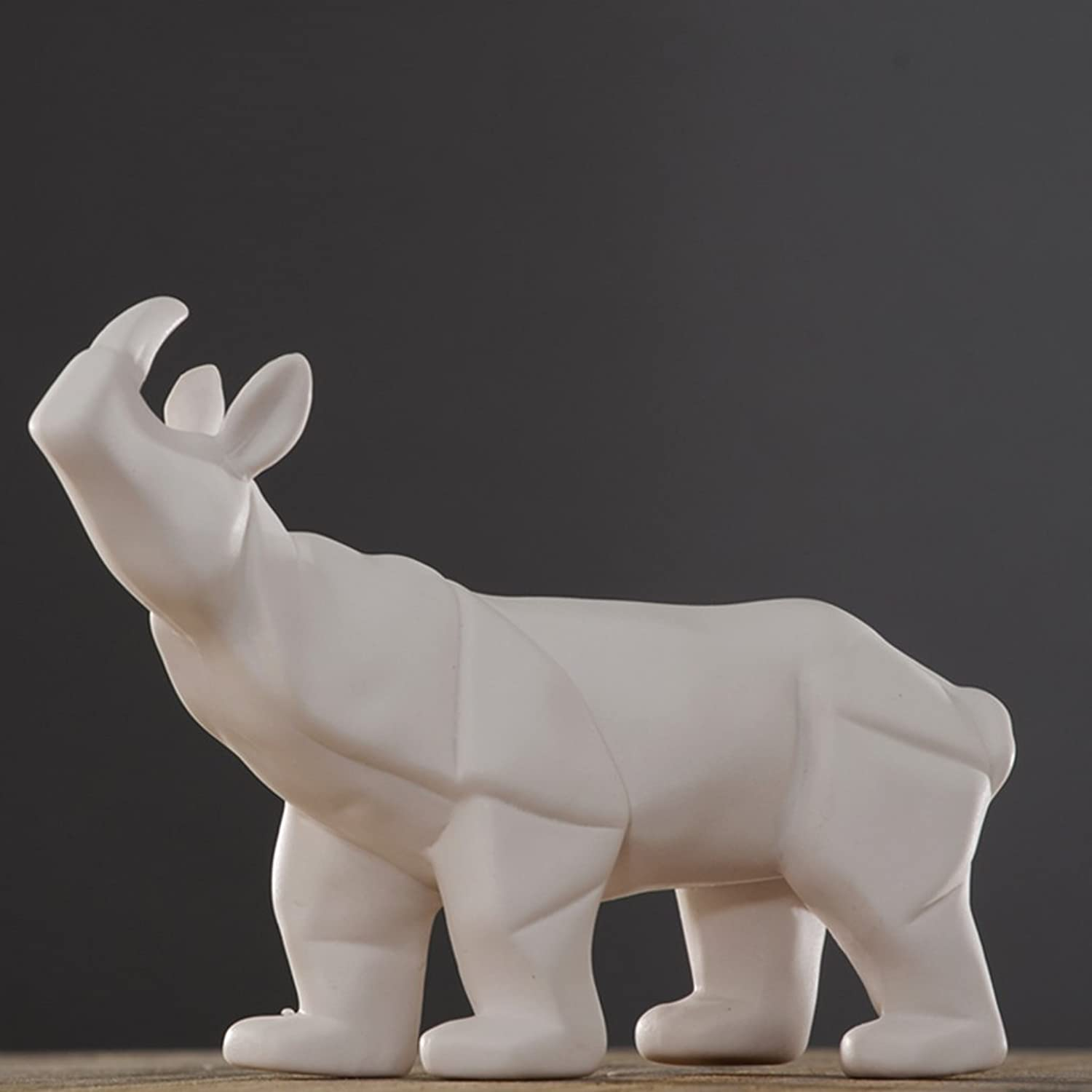 YYHSND Rhinoceros Decoration Set Living Room Cabinet Coffee Table Home Decorations Crafts Jewelry (Style   B)