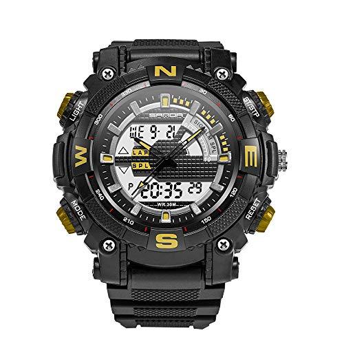 SANDA Elektronische Sportuhr Herrenuhr Uhren Analog Digital LED Rücklicht Armbanduhr für Herren Uhr