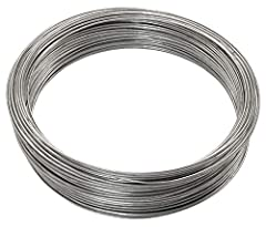 Use in DIY projects or anywhere in the workhouse, garden, or farm Robust design ensures a strong hold Wire tip: a thinner wire means the gauge will increase in size 16-gauge wire in a 200 foot long roll Holds up to 55lbs