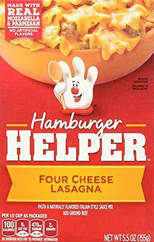 Hamburger Helper Four cheese Lasagna 5.5 oz 3 Pack