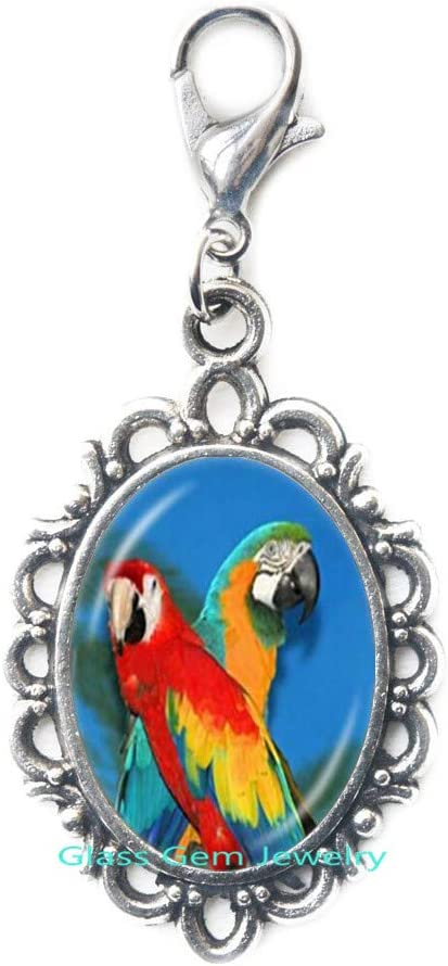 Parrot Zipper Max 63% OFF Pull Gold Macaw Lobster Jewelry C safety Clasp Glass Bird