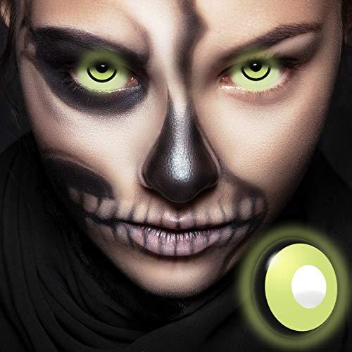 Halloween Kontaktlinsen UV Neon Green (Schwarzlicht-Linsen) - Farbige Kontaktlinsen