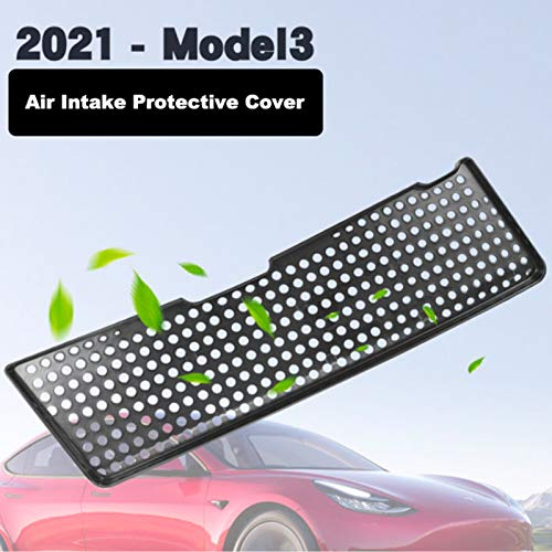 Wocch 2021 Model 3 Air Intake Grille Cover Air Flow Vent Protection Frame Cover Anti-blocking Air Inlet Grill Cover for Latest 2021 Tesla Model 3 Accessories