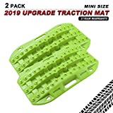 BUNKER INDUST Off-Road Traction Boards, 2 Pcs Recovery Tracks Traction Mat for 4X4 Jeep Mud, Sand, Snow Traction Ladder-Green Tire Traction Tool