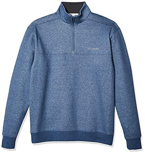 Columbia Hart Mountain II Half Zip Camiseta para Senderismo, Carbono/Brezo, 4X Alto para Hombre