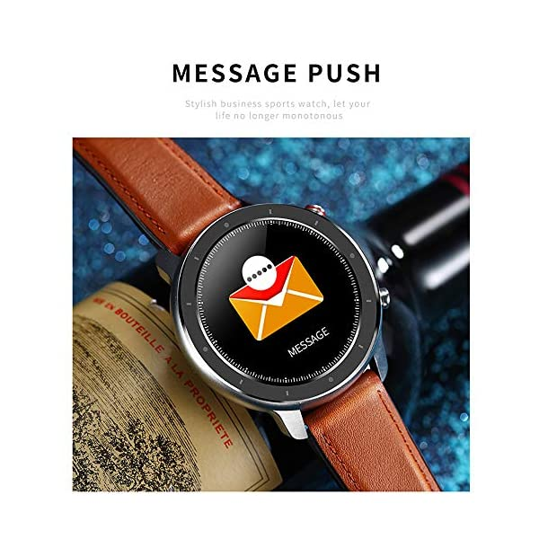 Reloj Inteligente Hombre, Smartwatch con Pantalla táctil, Fitness Tracker Impermeable IP68, Reloj Pulsometro Deportivo… 6