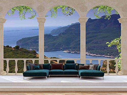 Fotomural Vinilo Pared Paisaje Vistas Costeras | Fotomural para Paredes | Mural | Vinilo Decorativo | Varias Medidas 350 x 250 cm | Decoración comedores, Salones, Habitaciones.