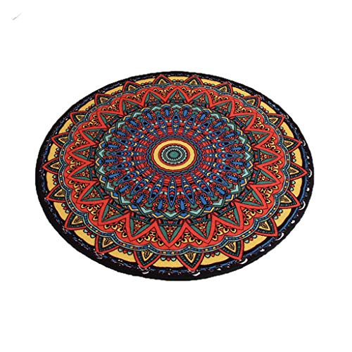 Find Bargain CarPet Round Anti-Skid Bedroom Hanging Basket Chair mats National Wind Printing and Dye...