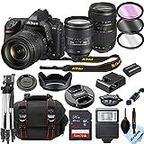 Nikon D780 DSLR Camera with 24-120mm VR + Tamron 70-300mm + 32GB Card, Tripod, Flash, and More (19pc Bundle)