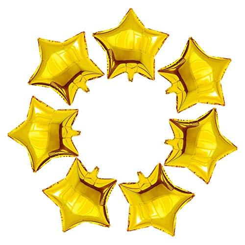 Gxhong 25 Piezas globos estrella Oro, 18'' Globos de papel de aluminio de globos de helio de románticos globos para cumpleaños, bodas, día de San Valentín, decoración de fiesta de Navidad