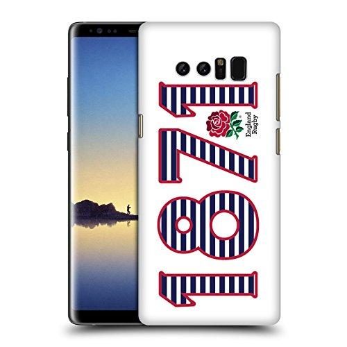 Head Case Designs Official England Rugby Union 1871 Paisaje 2016/17 La Rosa Carcasa rígida Compatible con Samsung Galaxy Note8 / Note 8