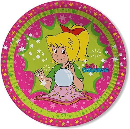 Bibi Blocksberg 8 Teller Kinderparty und Kindergeburtstag von DH-Konzept // Hexe Streiche Pappteller Partyteller Party Set Marita Florian Moni