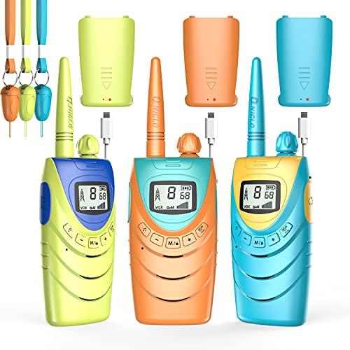 Walkie Talkies recargable para niños/adultos, radios de 2 vías de largo alcance con pantalla LCD, portátil Walky Talky para camping familiar, juguetes para niñas, niños,...