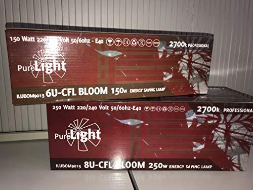 Purelight ESL Blüte 200 W, Energiesparlampe/Pflanzenlampe [erhältlich als 125, 200 oder 250 W]