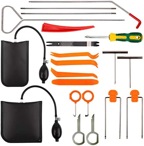Mtanlo 21Pcs Professional Car Tool Kit with Air Wedge Long Reach Grabber Non Marring Wedge Multifunctional product image