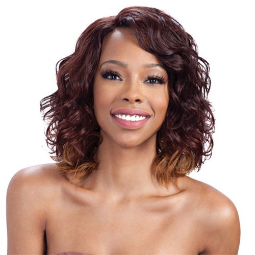 Model Model Synthetic Lace Front Deep Invisible L Part Wig - Honey Meadow