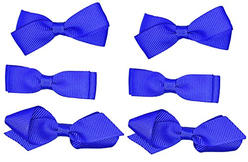 L'école Accessoires Cheveux clips pour filles 3 paires nœuds Petite gros-grain de cheveux Clips uniforme