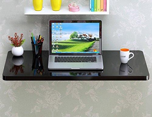 LXDZXY Escritorio de la computadora montado en la pared del hogar - Mesa de comedor plegable plegable de la mesa de la cocina de la mesa de la computadora del colgante de pared de madera sóli