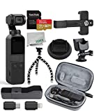DJI 2019 Osmo Pocket Handheld 3 Axis Gimbal Stabilizer with Integrated Camera Essentials Travel Bundle