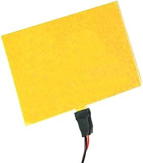 BeMatik - Panel electroluminiscente EL 100x100 mm amarillo