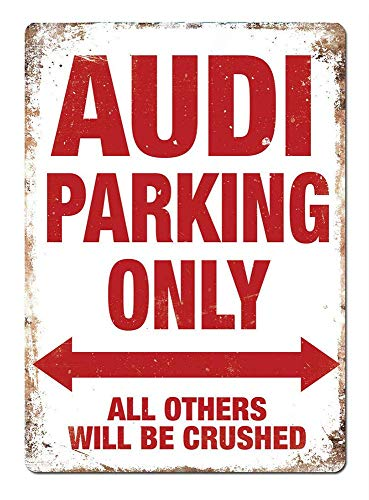 Lorenzo Audi Parking Only Vintage Metal Vintage Metallblechschild Wand Eisen Malerei Plaque Poster Warnschild Cafe Bar Pub Bier Club Dekoration