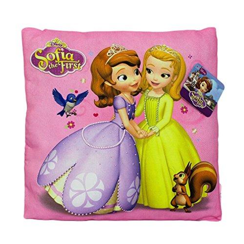 Disney princesse sofia coussin 35 x 35 cm 100 % polyester, Microfibre, rose, 35 x 35 cm