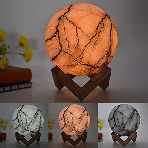 Lampada da tavolo creativa Explosion moonlight lampada da tavolo creativa da regalo per bambini illuminata 3d, 15cm modelli a tre colori, 1.5W
