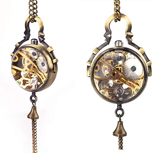 Cadena de Reloj de Bolsillo Colgante mecánico de Bola de Cristal Transparente Steampunk Nuevo