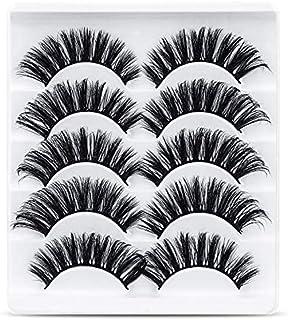URAQT Valse Wimpers, 5 Paar 3d-wimpers Met Natuurlijke Look, Nepwimpers Van Namaakmink, Herbruikbaar, Handgemaakte Zachte ...