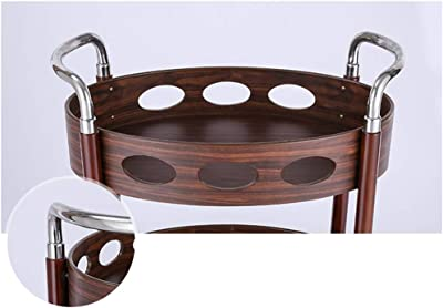 Amazon.com: Carro de 2 niveles de madera maciza ...