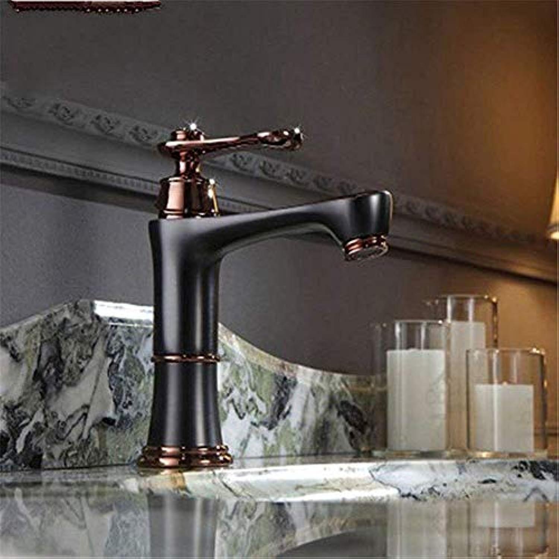 Oudan Küchenarmatur Massives Kupfer heies und kaltes Wasser Spüle Beckenmischer Wasserhahn (Farbe   -, Gre   -)