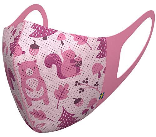 Airinum Lite Air Mask - Atemschutzmaske mit Filter und Elatischer Ohrenhalterung, Leichtgewichtige Waschbare Maske für Stadt, Reisen, Fahrradfahren (S, Wild Pink)