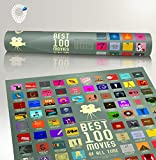 100 Movie Scratch Off Poster Top Films of All Time Bucket List by Travel Revealer Scratch Off Movie Poster. 17'x24' Minimalist Modern Silver Screen Movie Poster Design by British Artist.