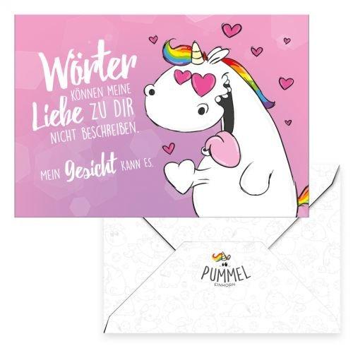 Pummel & Friends - Grußkarte - Pummeleinhorn (Liebe)
