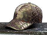 Noga - Gorra con visera estilo militar de camuflaje en bosques y exteriores con diseño pitón, sobria, para pesca, caza y senderismo, Mountain python Camouflage