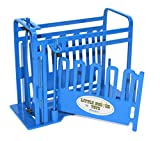 Little Buster Toys Squeeze Chute - Priefert Squeeze Chute with Sliding Gates in Blue, 1/16th Scale