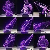 Llama Jug Scar Default Girl 3D Lámpara de mesa Juguete para niños...