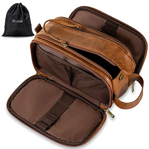Elviros Toiletry Bag for Men, Large...