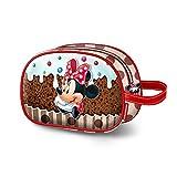 KARACTERMANIA Minnie Mouse Muffin-Oval Toiletry Bag Kulturtasche, 23 cm, Braun (Brown)