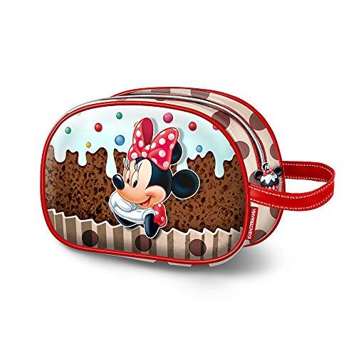 Karactermania Minnie Mouse muffin-ovaal toilettas toilettas, 23 cm, bruin (bruin)