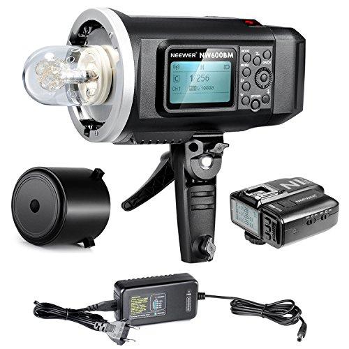 Neewer® 600W GN87 HSS Al Aire Libre Luz De Flash Estroboscópico para Sony Cámara con Mi Zapata, 2.4G disparador sin hilos & 8700mAh Batería para proporcionar 500 flashes Completos de energía de reciclaje en 0.01-2.5s Montaje Bowen(NW600BM)