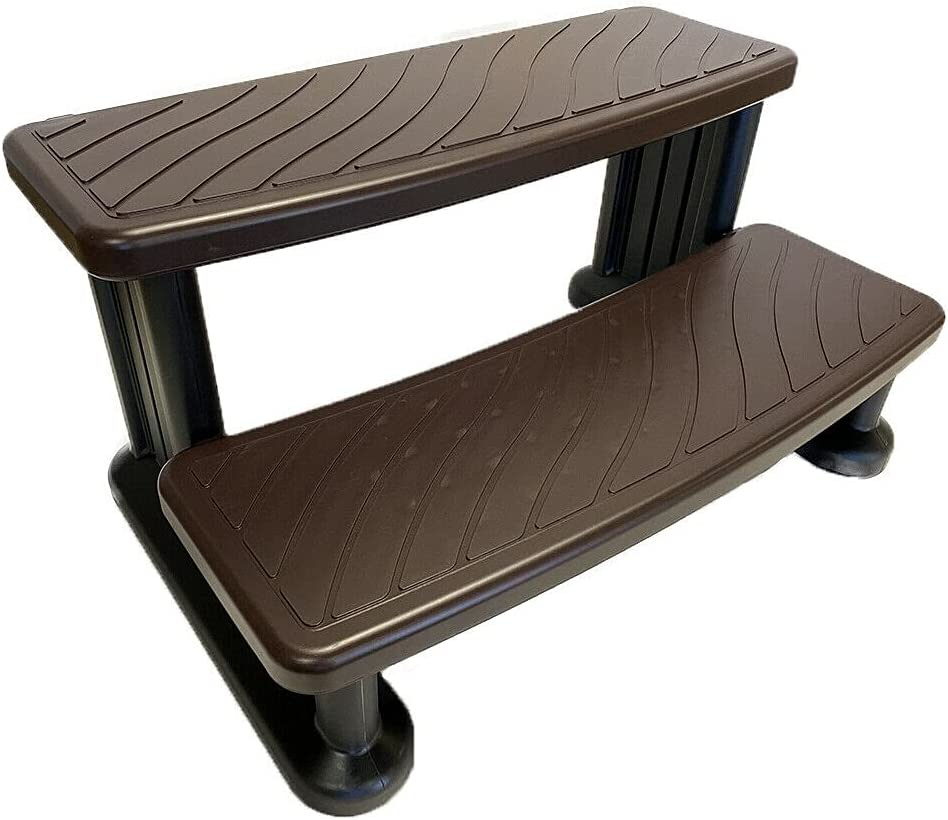 Aocctez Spa Hot Tub Steps Clearance SALE Limited time No Tech New sales for Slip Espresso Grip Puri