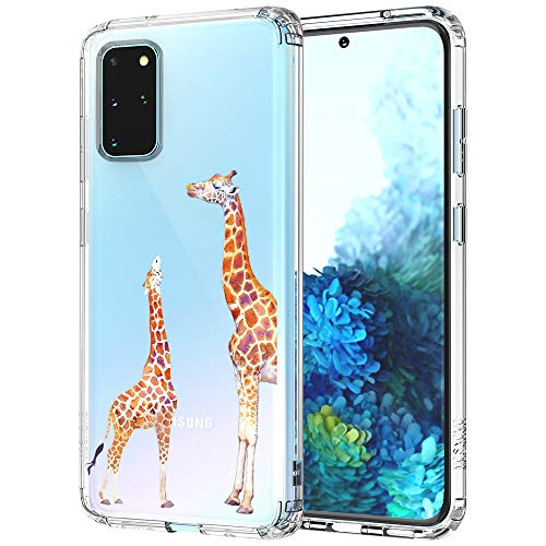 MOSNOVO Galaxy S20 Plus Case, Cute Giraffe Pattern Clear Design Printed Transparent Plastic Back Case with TPU Bumper Protective Case Cover for Samsung Galaxy S20 Plus